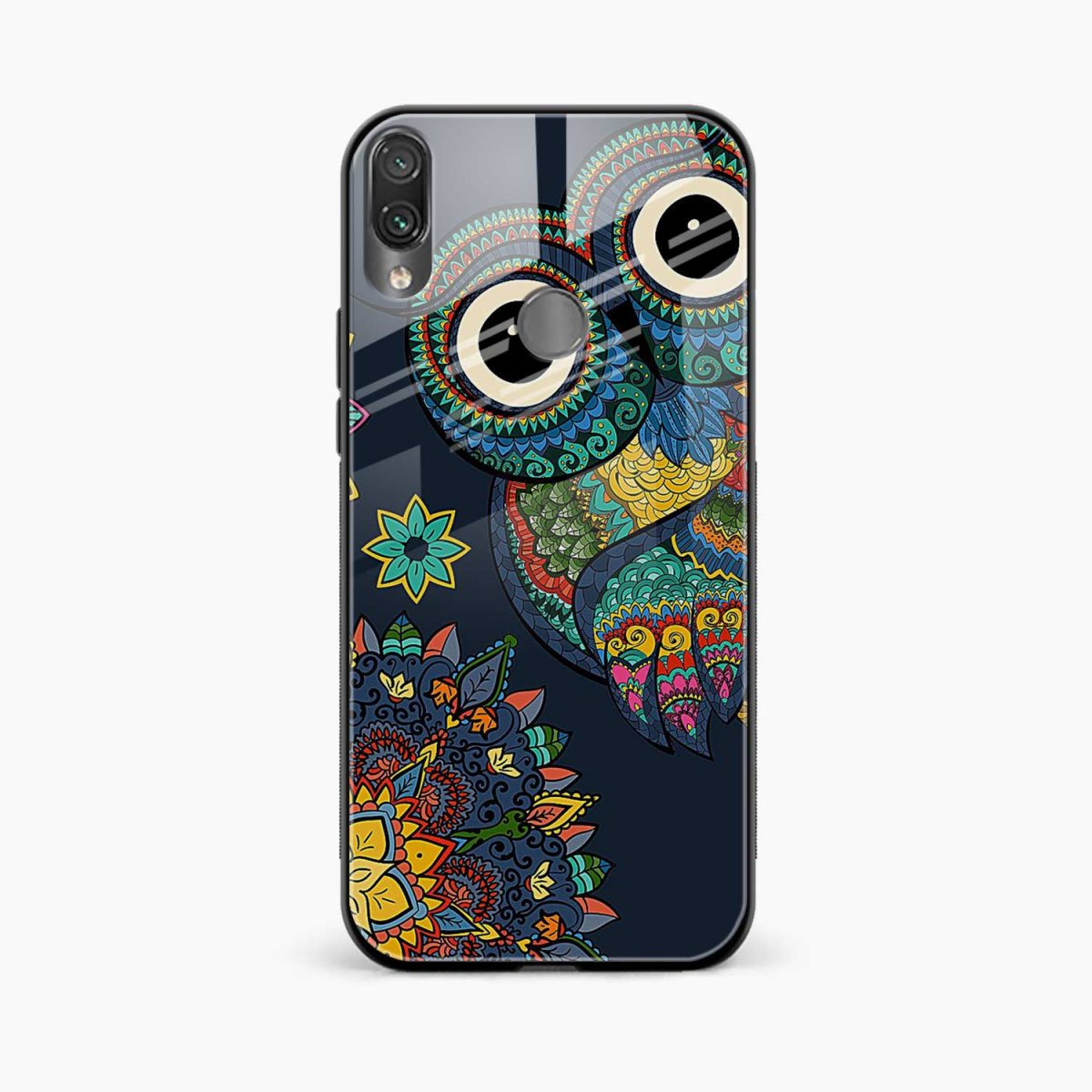 owl eyes front view redmi note 7 back cover