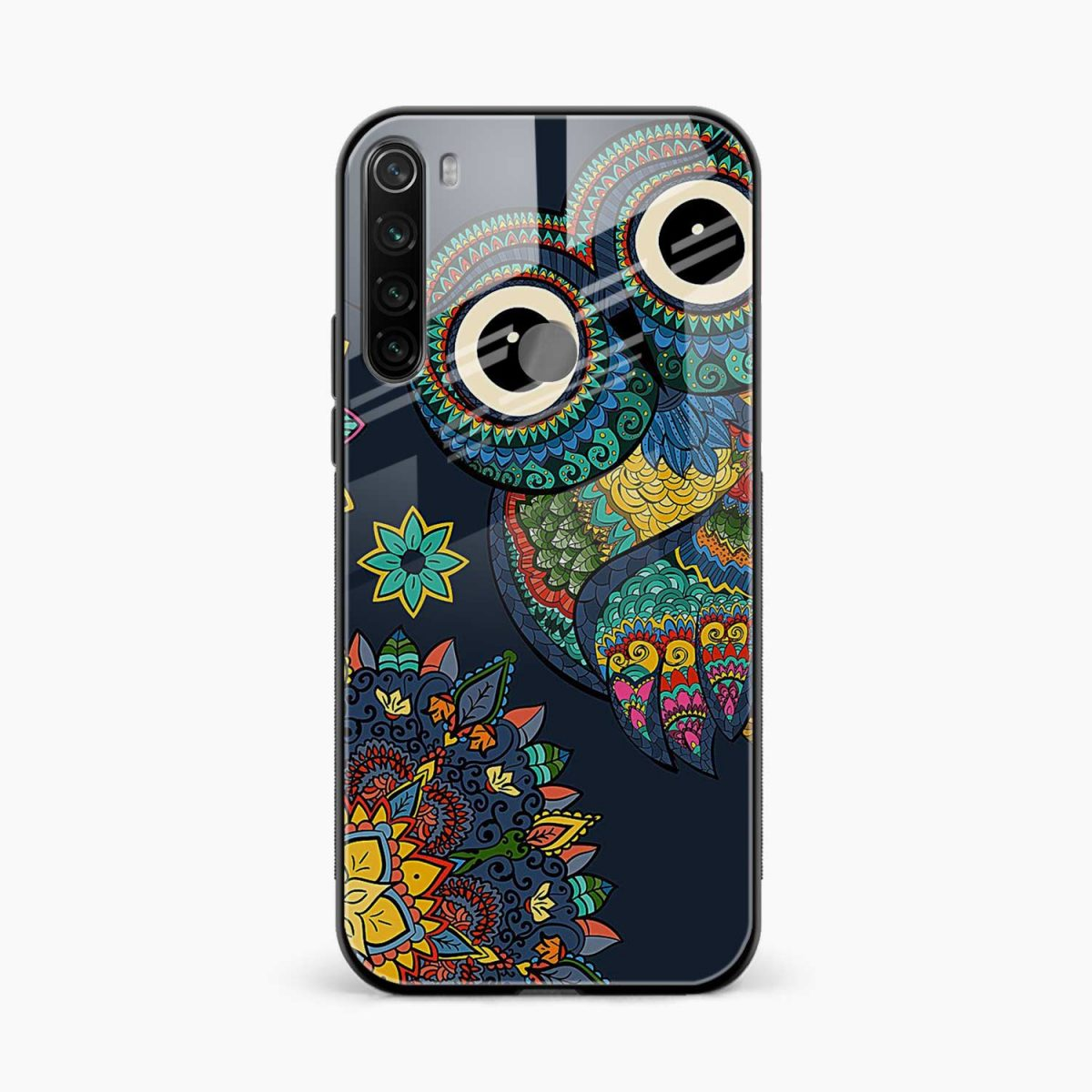 owl eyes front view redmi note 8 back cover