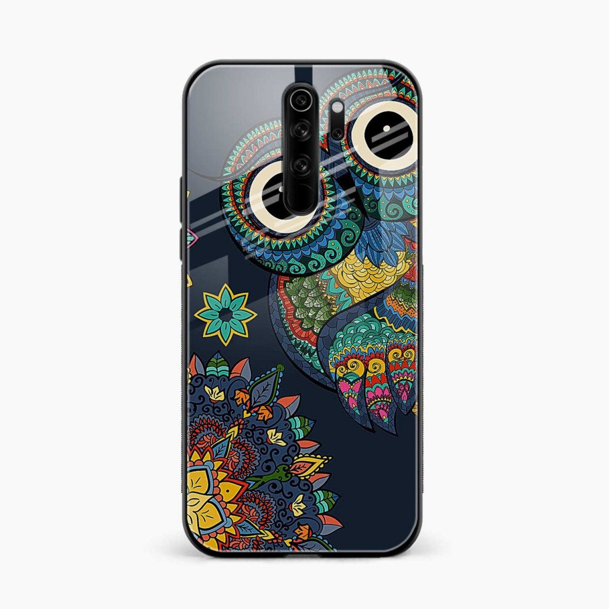 owl eyes redmi note 8 pro back cover front view