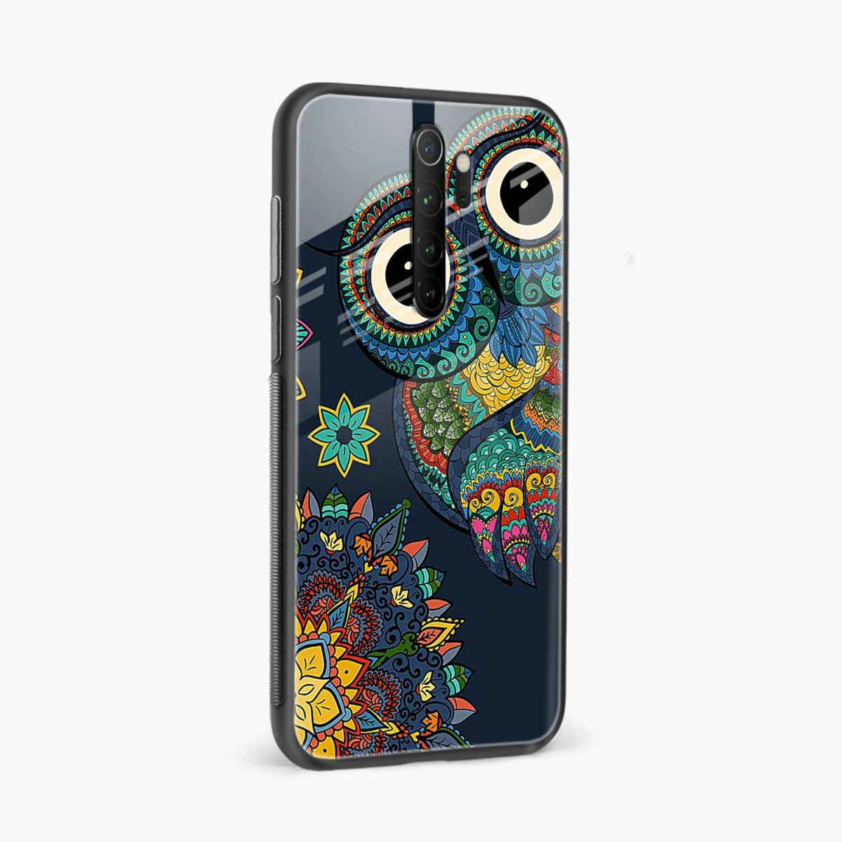 owl eyes redmi note 8 pro back cover side view