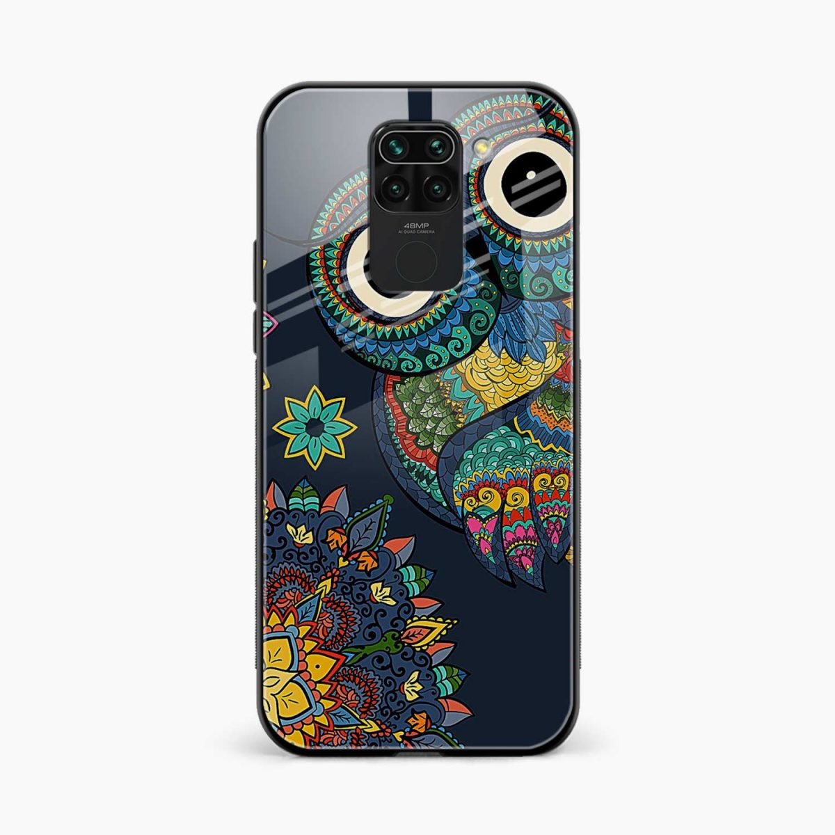 owl eyes front view redmi note 9 back cover