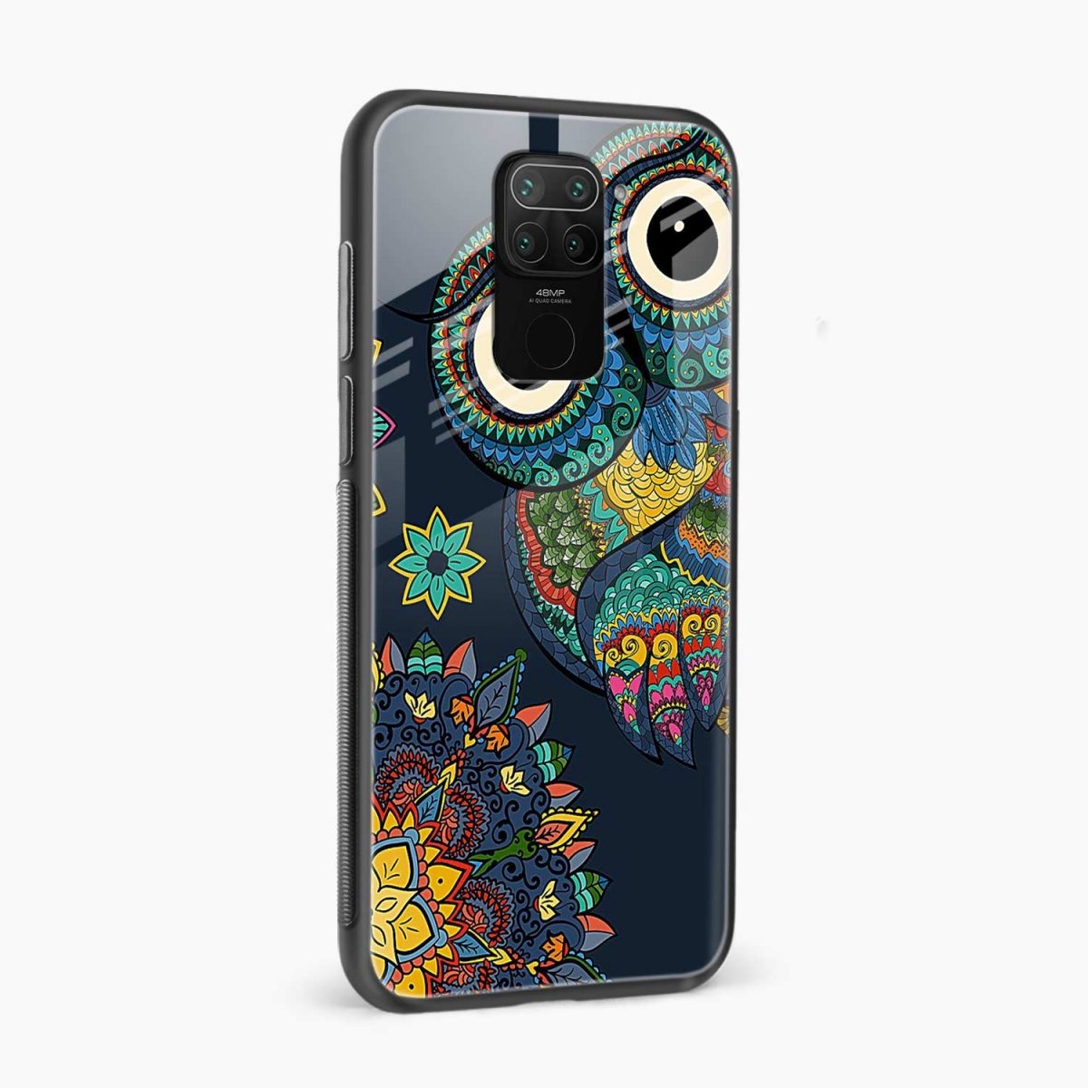 owl eyes side view redmi note 9 back cover