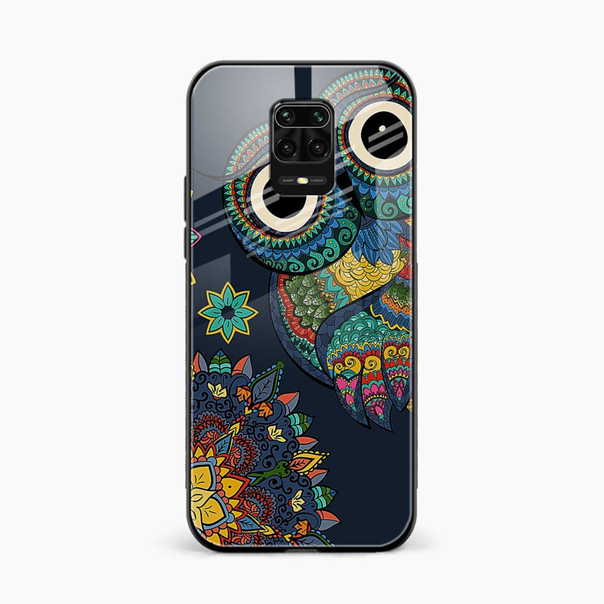 owl eyes front view redmi note9 back cover