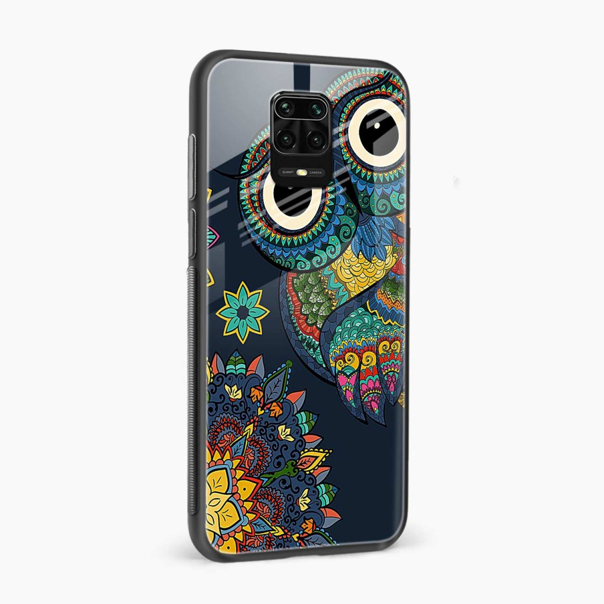 owl eyes side view redmi note9 back cover