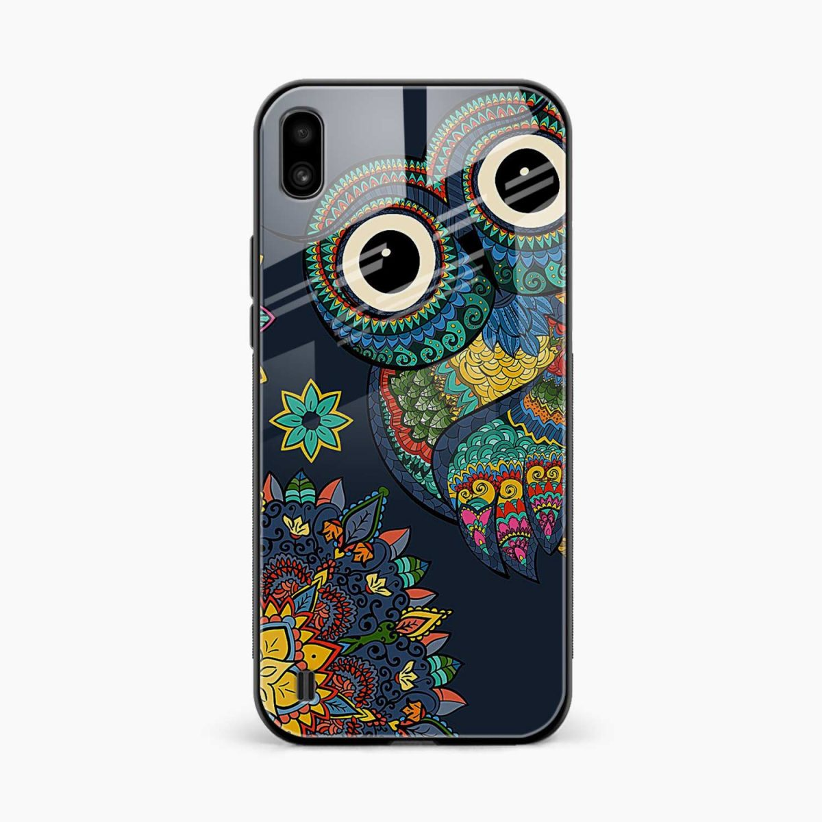 owl eyes front view samsung galaxy a10 back cover