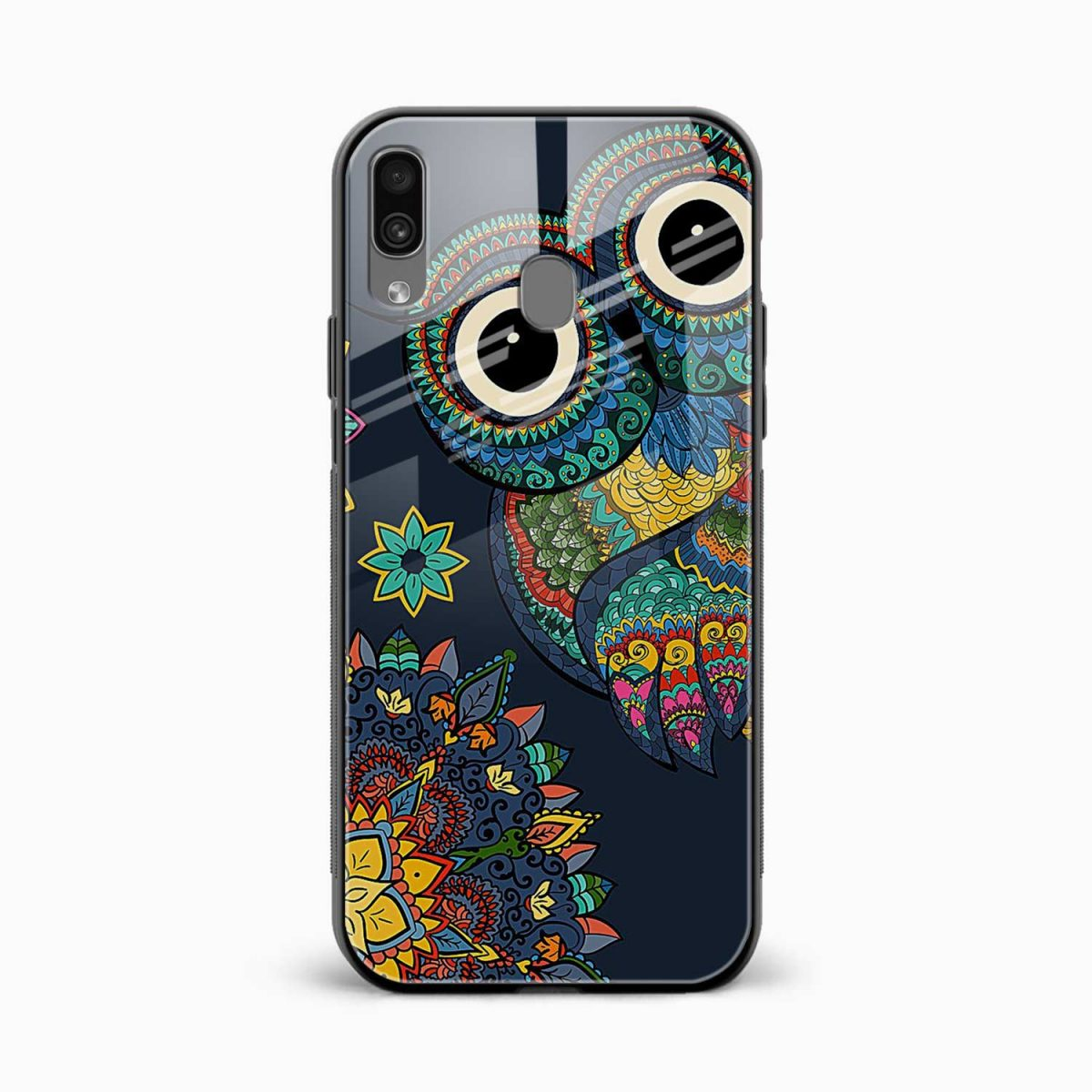 owl eyes front view samsung galaxy a30 back cover
