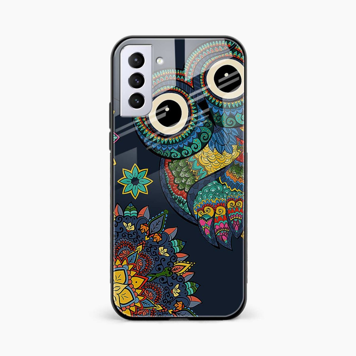 owl eyes front view samsung s21 plug back cover