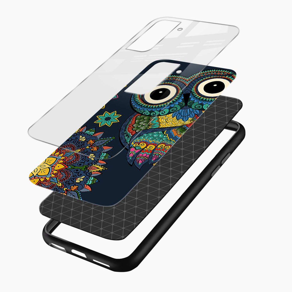 owl eyes layers view samsung s21 plug back cover