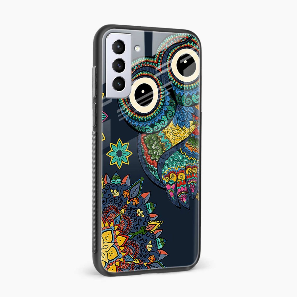 owl eyes side view samsung s21 plug back cover
