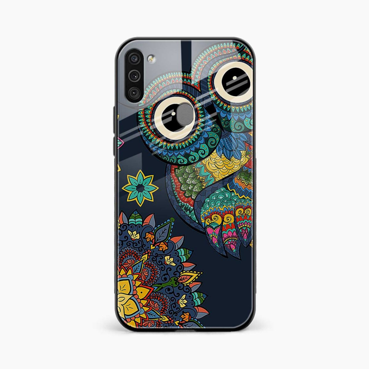 owl eyes front view samsung galaxy m11 back cover