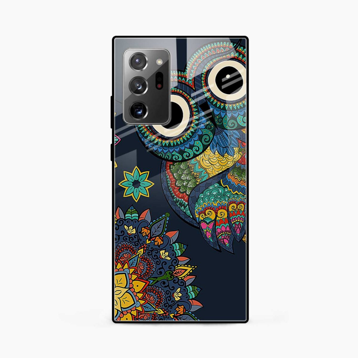 owl eyes front view samsung galaxy note20 ultra back cover