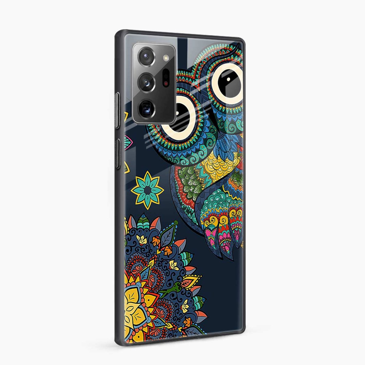 owl eyes side view samsung galaxy note20 ultra back cover
