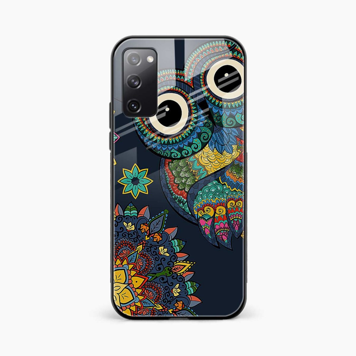 owl eyes front view samsung galaxy s20 fe back cover