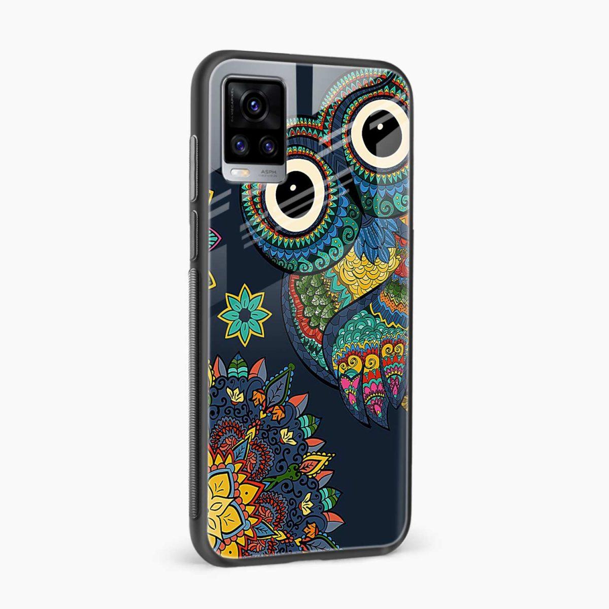 owl eyes side view vivo v20 back cover