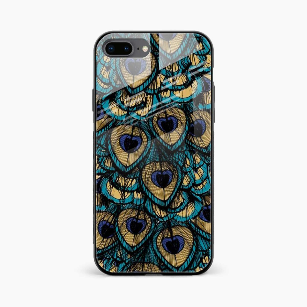 peacock feather front view apple iphone 7 8 plus back cover