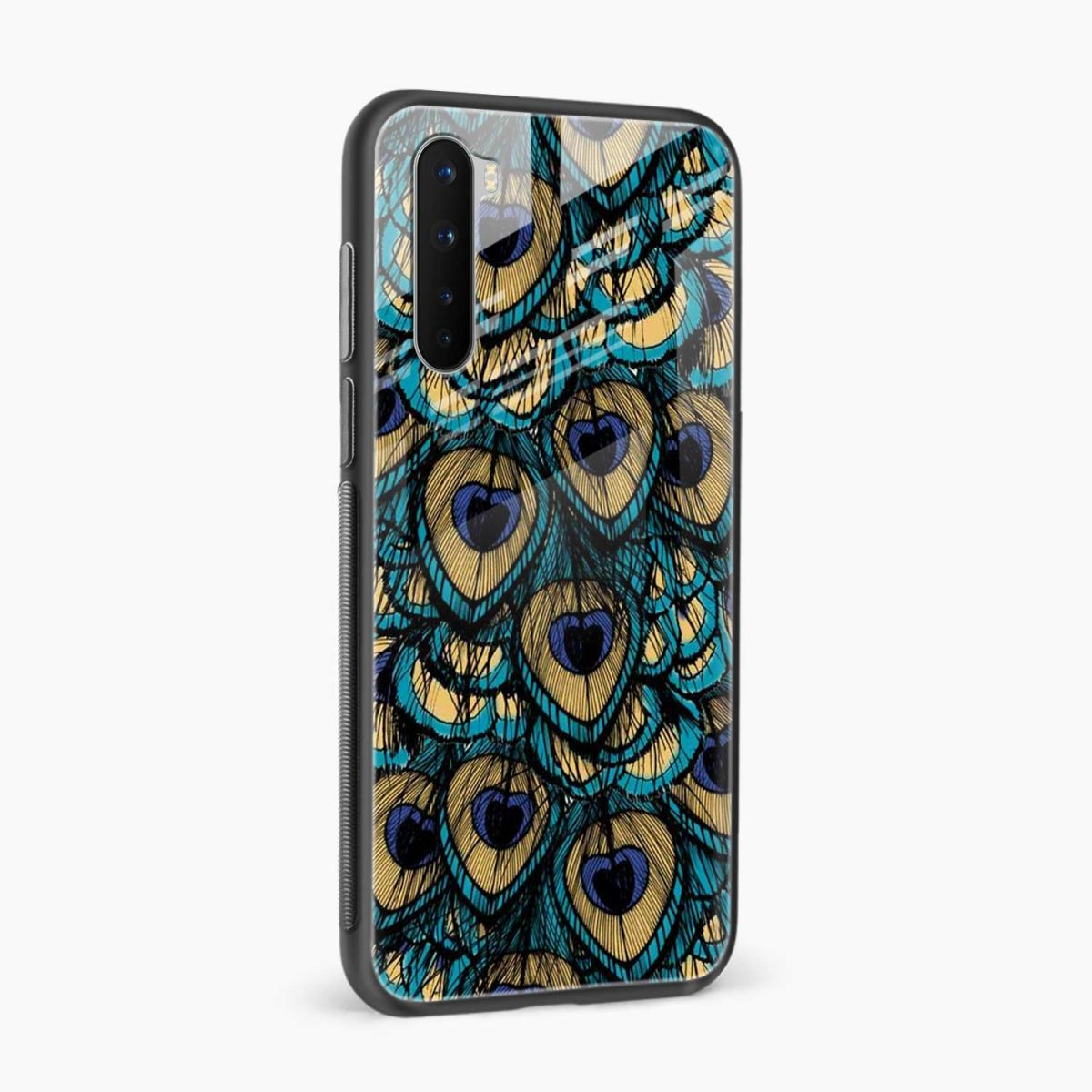 peacock feather side view oneplus nord back cover
