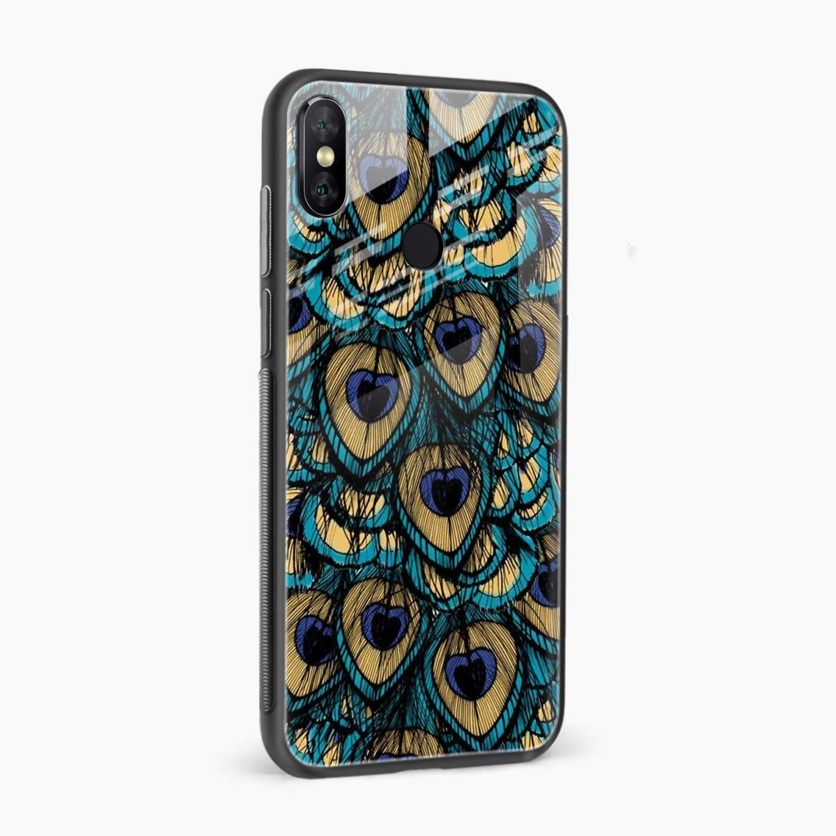 peacock feather redmi note 5 pro back cover side view