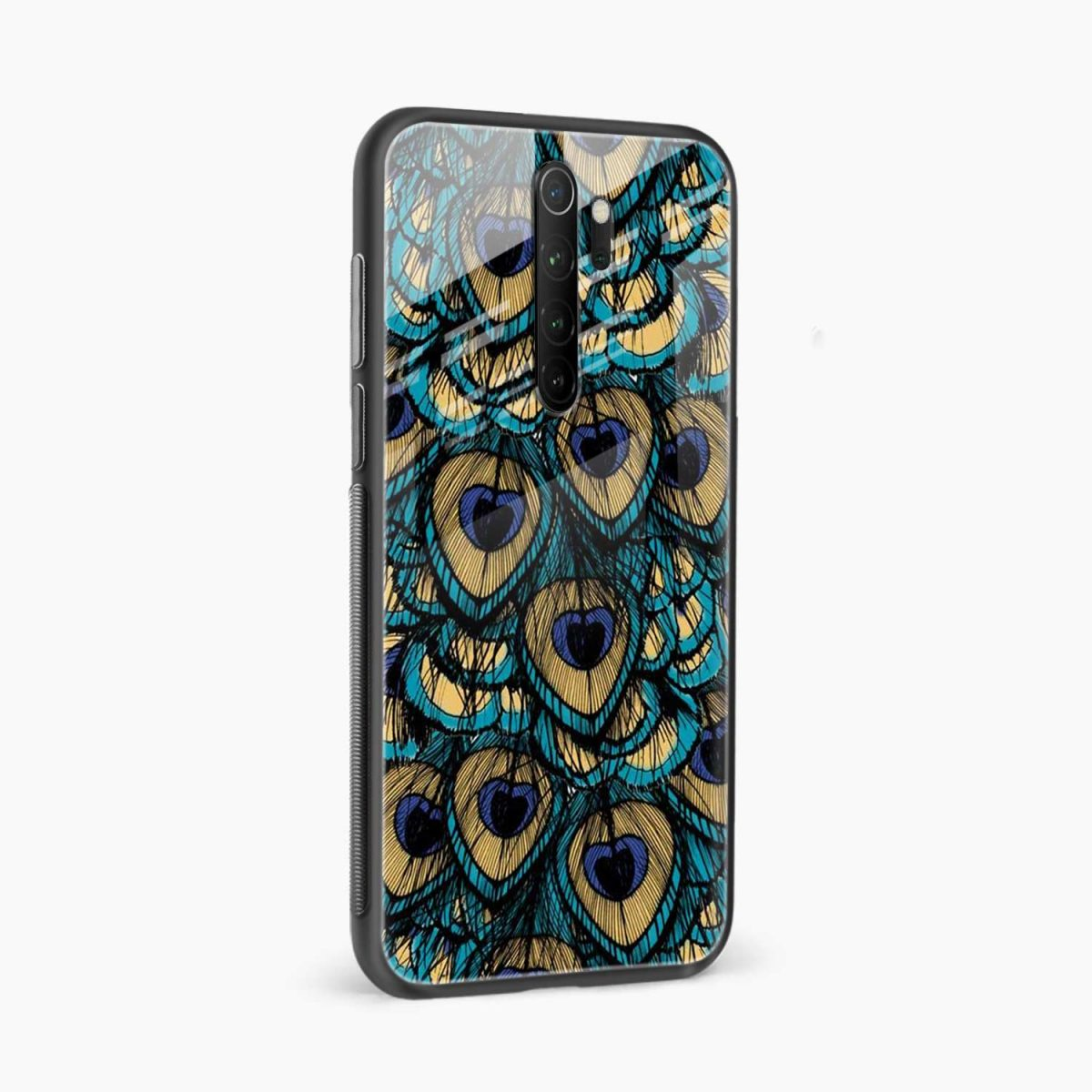 peacock feather redmi note 8 pro back cover side view