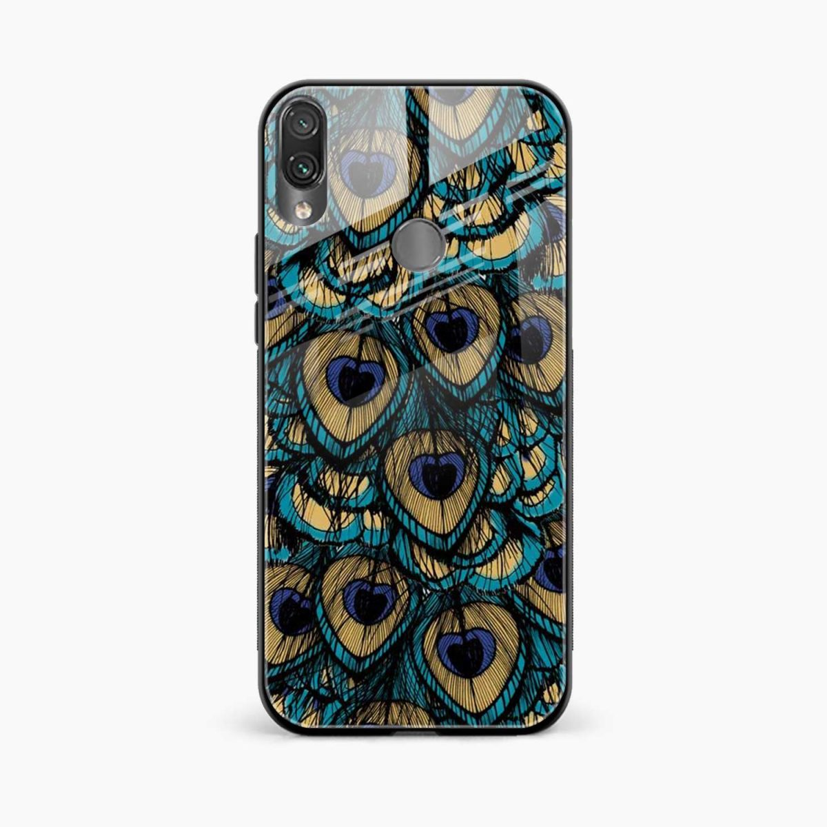 peacock feather front view redmi note 7 back cover