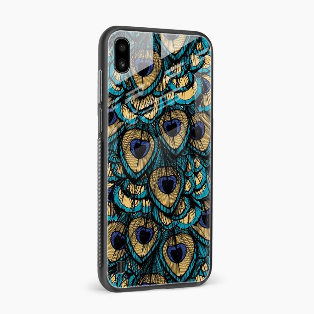 peacock feather side view samsung galaxy a10 back cover