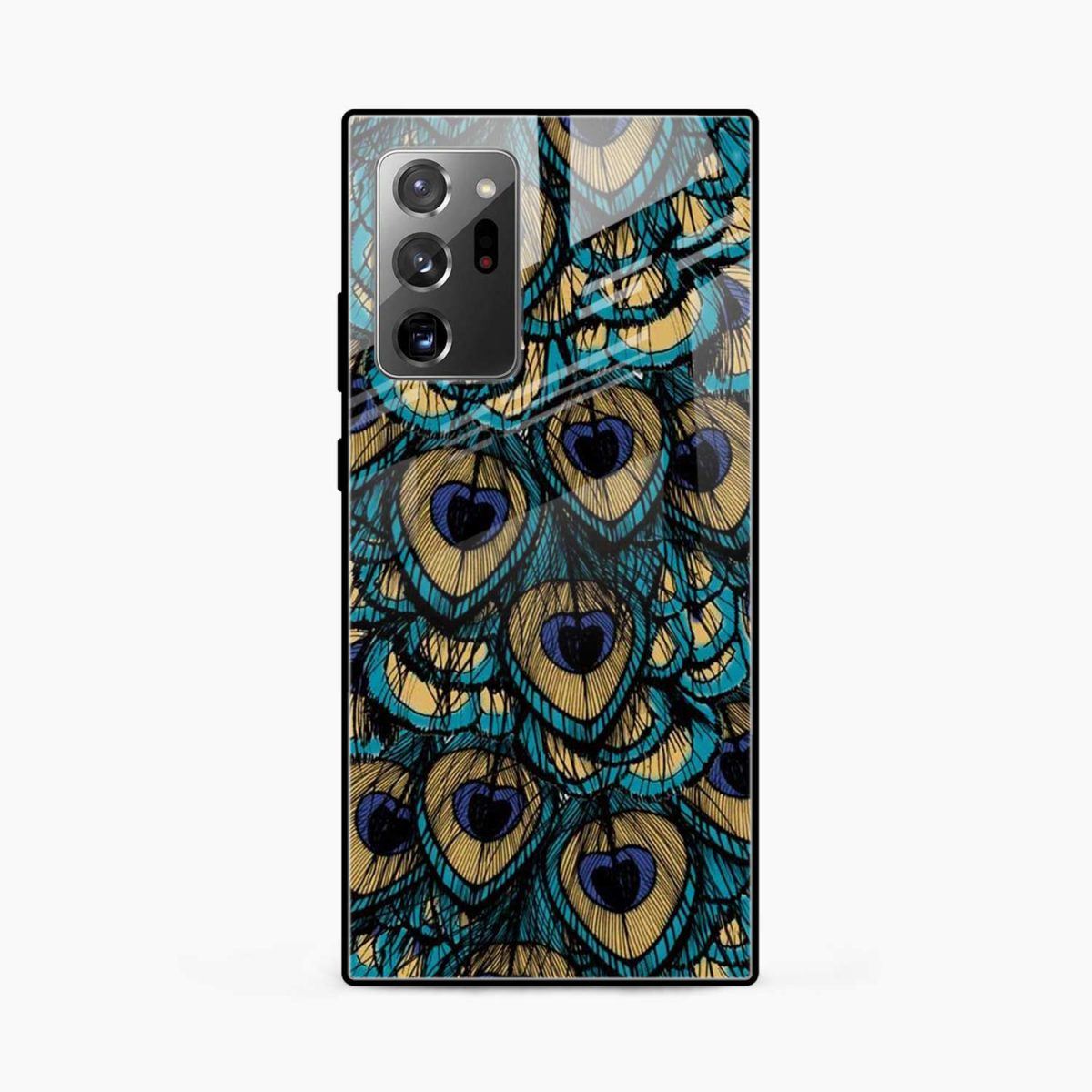 peacock feather front view samsung galaxy note20 ultra back cover